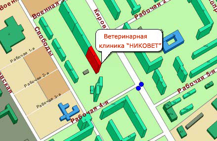 Карта проезда, Кирова, 8