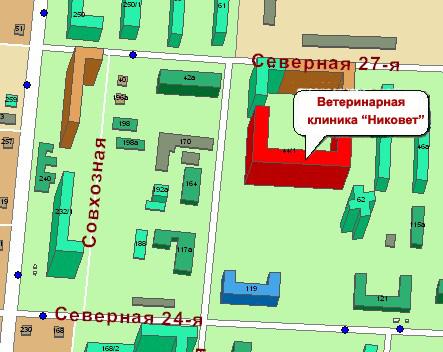 Карта проезда, 27-я северная